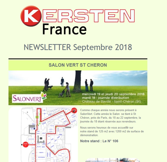 Newsletter Septembre 2018